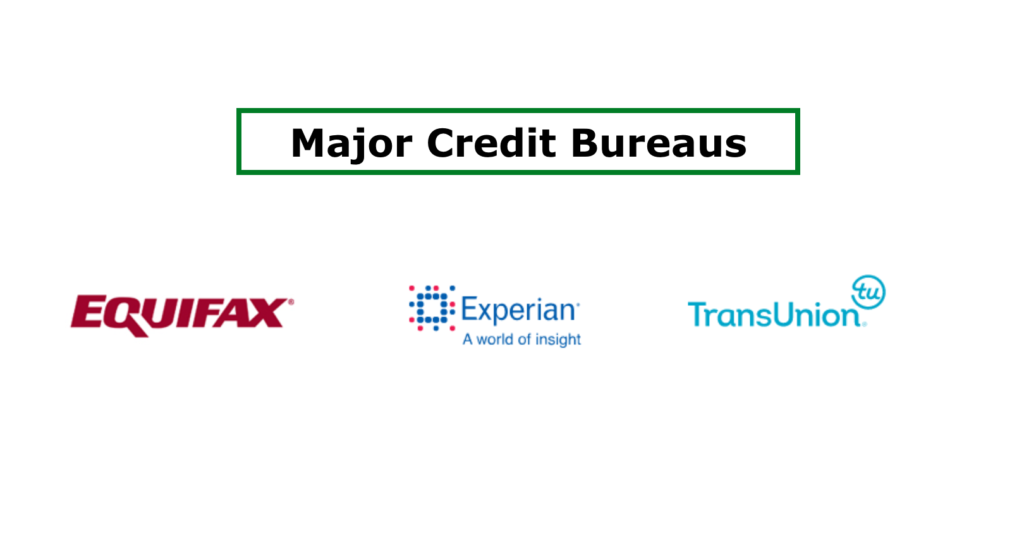 Major credit bureaus